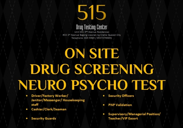 five one five drug testing center  quezon city