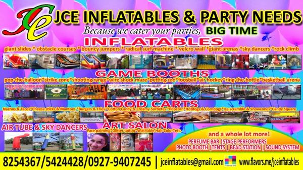 jce inflatables and party needs  paranaque city
